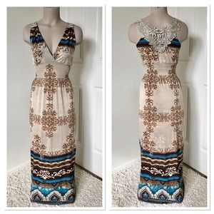 Beautiful Maxi Dress with Lace Back S